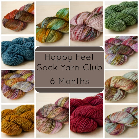Sock Yarn Club - Happy Feet - 6 Month Subscription