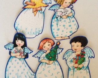 Sweet Angel Girls - Iron On Fabric Appliques