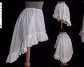 Choose Color and Size - Mini High Low Skirt with ruffle by LoriAnn Costume Designs  Free Shipping within US