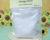 Orange Clove Bath Powder , Body Powder , Dusting Powder, Deodorizing Powder refill bag 4 ounce