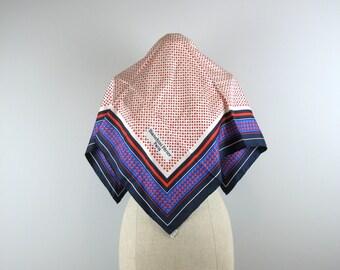Vintage 60s Bianchini Férier Silk Scarf in a geometric pattern