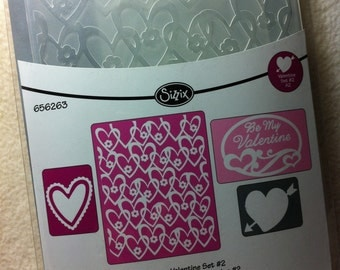 Embossing Folders...4 Piece Set of Brand New Valentine Themed Embossing Folders