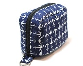 Essential Oil Case Holds 6 Bottles Essential Oil Bag Navy Blue with White Anchors