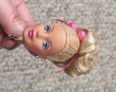 Standard Blonde Doll Head Keychain