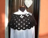 Custom Order  for PATRICIA - LITTLE BUTTERFLY  -  Crochet Capelet