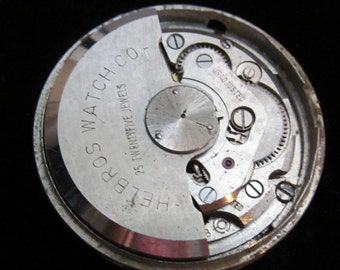 Gorgeous Helbros Watch Movement Steampunk Altered Art Assemblage Industrial LS 45