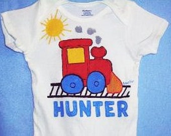 Personalized Train Baby Bodysuit, Choo Choo Train Baby Boy One Piece, Baby Boy Train, Toddler Trian Shirt, Little Train That Could