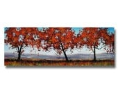 Trees in The Meadow Large Trees Painting Completed Original oil by Graham Gercken
