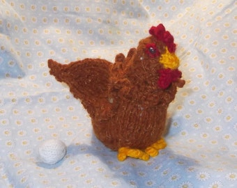 Mini Knitted Chicken With Secret Egg Compartment