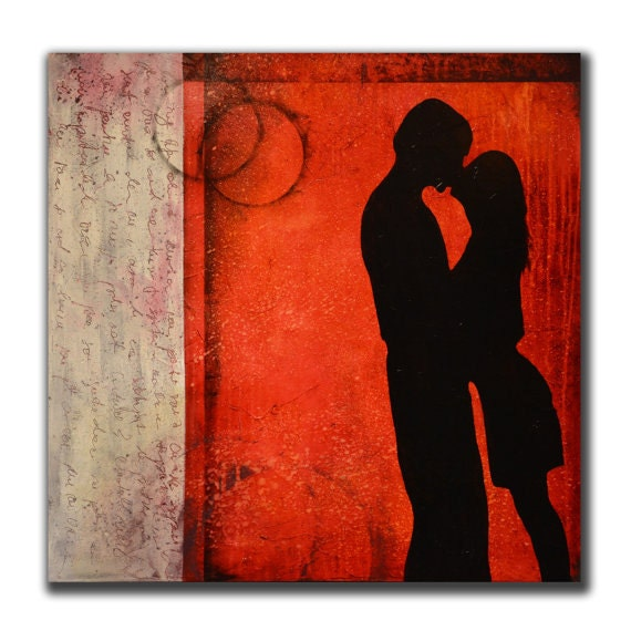 Red feng shui to attract love lovers painting by andrada - Feng shui bedroom romance ...