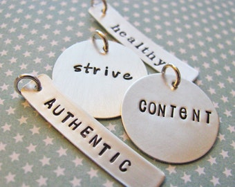 custom inspiration word charm - your word for 2017 - one word inspiration - resolutions for 2017