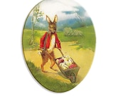 Made In Germany Papier Paper Mache Easter Egg Box  4.5 Inch  # 108 S