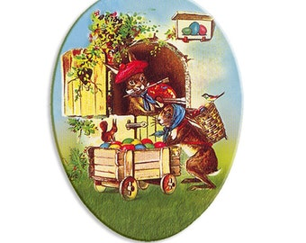 Made In Germany Papier Paper Mache Easter Egg Box  4.5 Inch  # 109 S