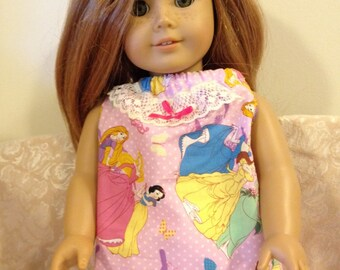 "18"" American Girl Doll Princess Shirt Pants Clothes Outfit"
