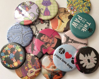 STOCKING STUFFERS...Pocket MIRRORS  10 designs from shop or your own -