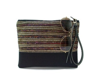 Summer Clutch Bags, Woven Bag with Wrist Strap, Unique Clutch Bags,Vacation Clutch, Resort Clutch, Casual Clutch Bag