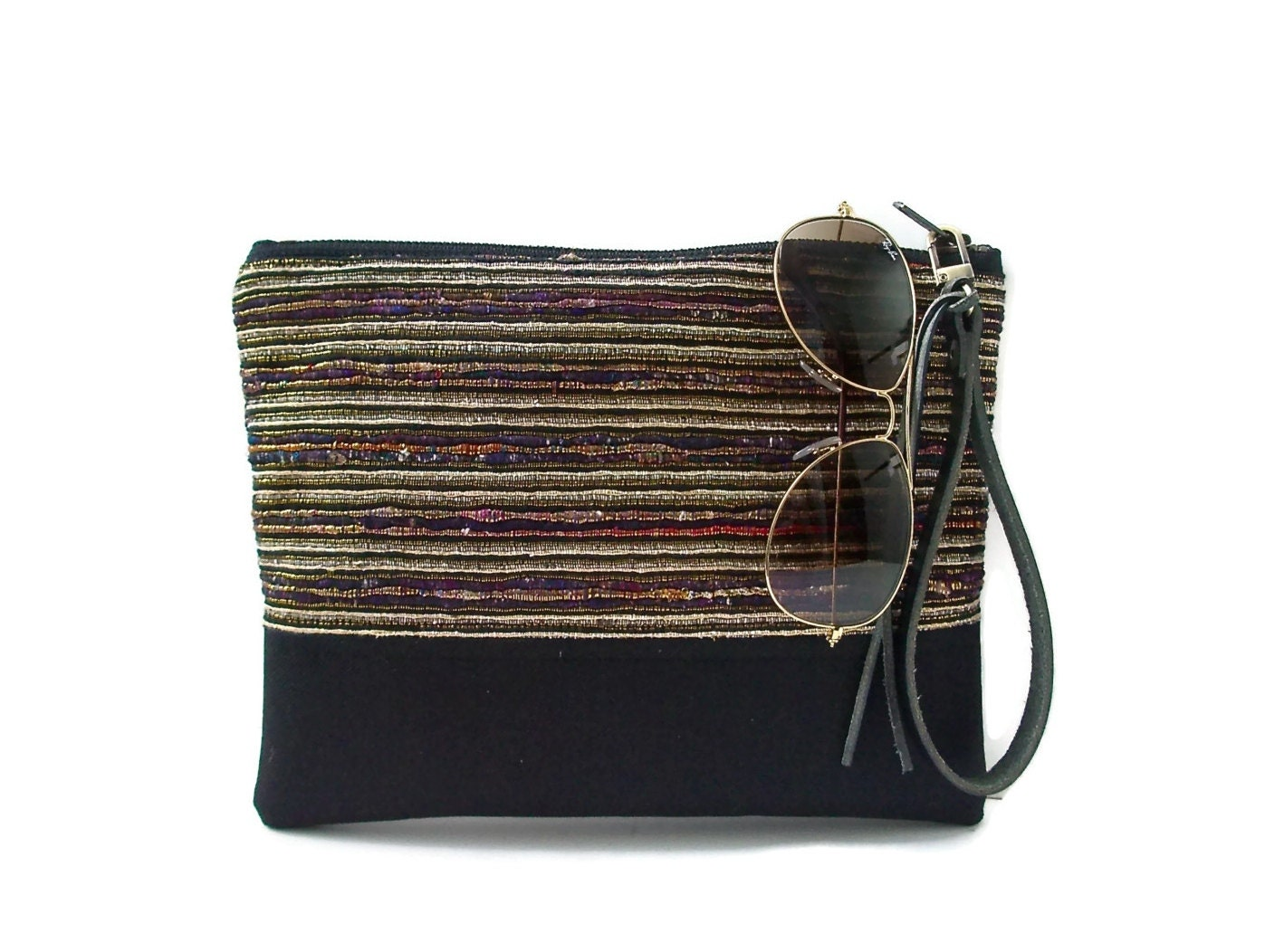 Summer Clutch Bags Woven Bag with Wrist Strap by ...
