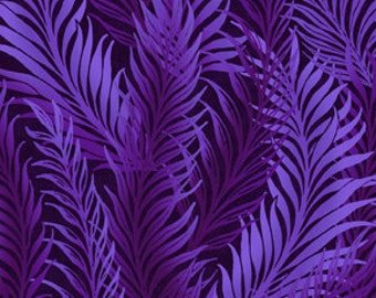 Feather Purple Dreamweaver Blender Jason Yenter Fabric 1 yard