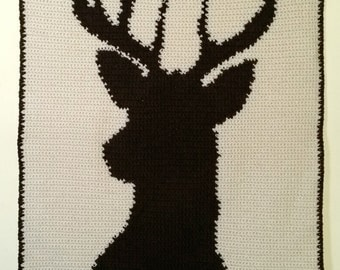 Deer Head Baby Blanket, made to order