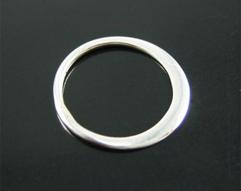 5 pcs Small Sterling Silver Flattened Ring Link