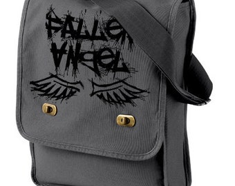 Fallen Angel Messenger Field Bag - pastel goth gothic lolita grunge punk creepy cute laptop bag vampire fantasy small messenger bag