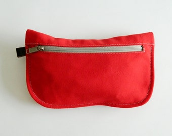 SALE SALE SALE  20% Sale -  // D- Pouch in Red // Wallet / clutch / cosmetic bag / iphone case /  travel / Women /  Pouch