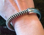 Recycled Military Zipper Bangle Bracelet