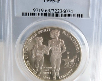 1995-P Olympic Paralympic Silver Dollar Commemorative *PCGS PR69DCAM* Blind Runner