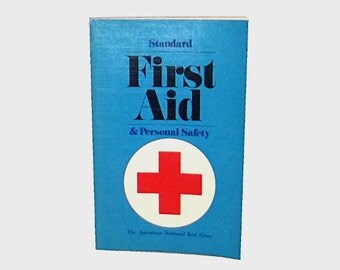 1970s vintage first aid book / 70s health book / First Aid Medical Book