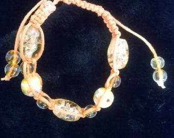 Orange Shambhala Bracelet