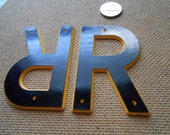 r - vintage plastic marquis letter found objects for altered art and craft projects