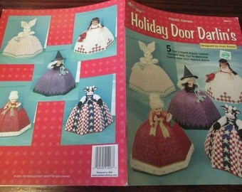 Door Doll Plastic Canvas Patterns Holiday Darlin's The Needlecraft Shop 993114  Plastic Canvas Leaflet