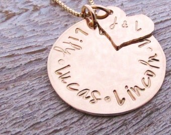 Personalized Jewelry - Gold Mother's Necklace - Family Necklace