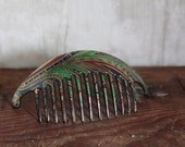 Vintage Hair Comb, Hair Accessory, Retro Bun Holder, Colorful Hair Comb