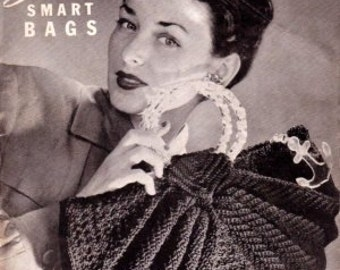 Vintage Quaker Smart Bags 40s Book Pattern Vol XIX for Crochet 20 Models on PDF