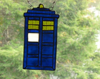 Tardis Dr Who Stained Glass Seriously Cool