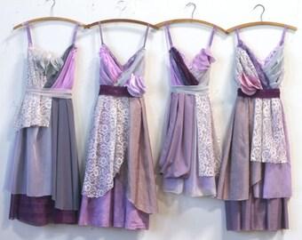 Custom Purple Bridesmaids Dresses