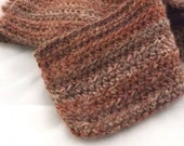 Copper Canyon multicolor oversized Alpaca Blend Crochet Scarf ... awesome for men or women