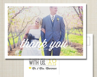 wedding thank you card - postcard option