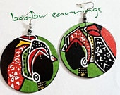 Black Queen in Color Earrings