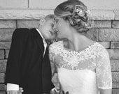 KISS Me In BARILOCHE bridal lace top bolero wedding shrug white lace top