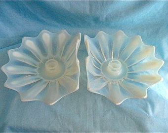ON SALE was 66.00 Opalescent Lotus Flower Candle Holders