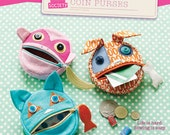 SALE Feed the Animals Coin Purses Sewing Pattern by Straight Stitch Society