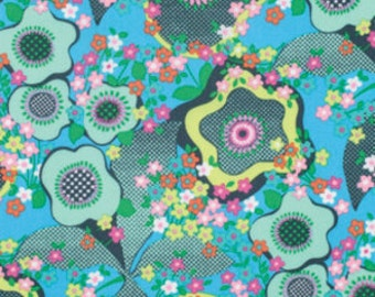 Amy Butler Glow - Peace Flowers Marine PWAB126 100% Quilters Cotton Available in Yards, Half Yards and Fat Quarters