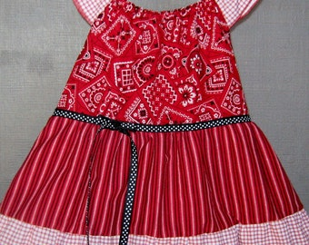 Dress-Cowgirl Up! -Peasant Style - Size 4 Toddler
