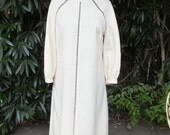 RESERVED  Dress, Eva Gabor, Estevez, Creamy White Dress, Shift Style Dress, Day Dress, size 12