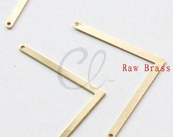 20pcs Raw Brass Arrow Link - Pendant 22x39.6mm (2002C-P-345)