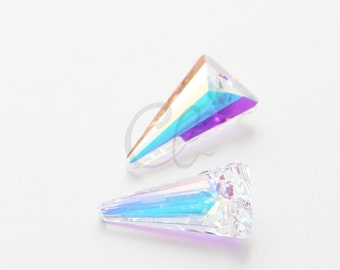 One Piece Swarovski Drop 6480 Spike - CRYSTAL AB 18mm (1820001)