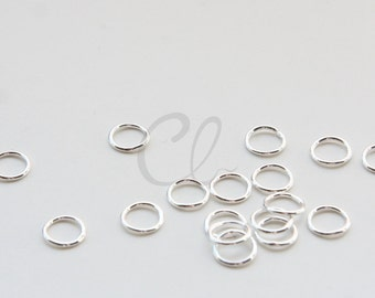 100pcs Silver Plated Brass Base CLOSED Jump Rings- 8mm (1210)