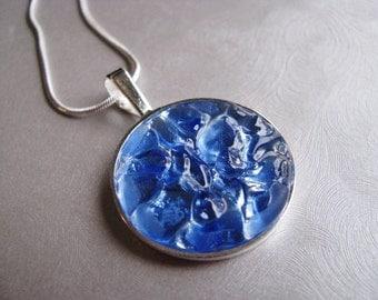 Sea Glass Jewelry - Cornflower Blue - Sea Glass Necklace - Beach Glass Jewelry - Ocean Jewelry - Seaside Jewels - Rare Cornflower Blue
